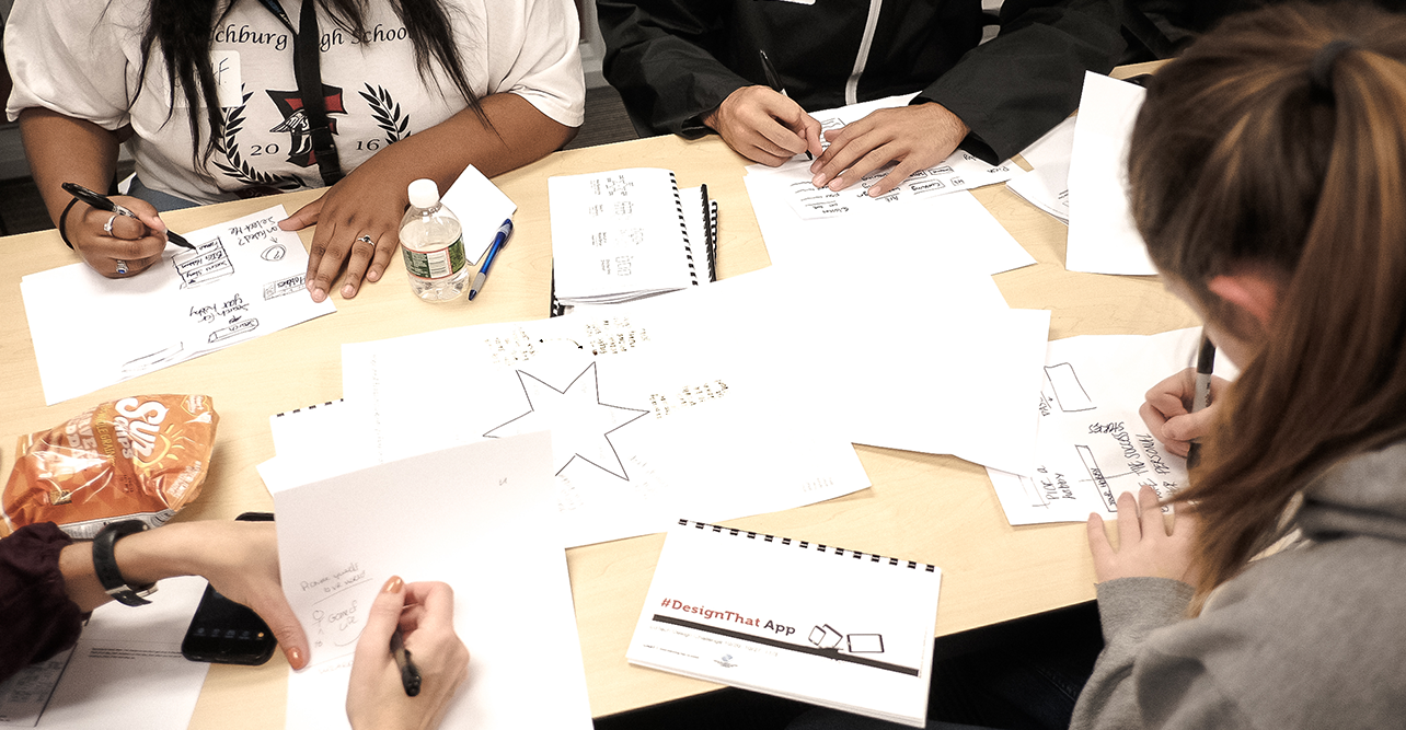 Photo of people participating in a design activity